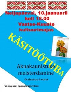 KÄSITÖÖTUBA 10-01.19