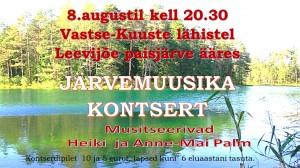 Järvemuusika kontsert 1.08.20